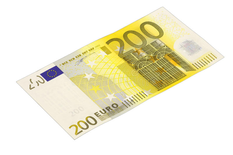 Billet de banque de l'euro 200 photos stock
