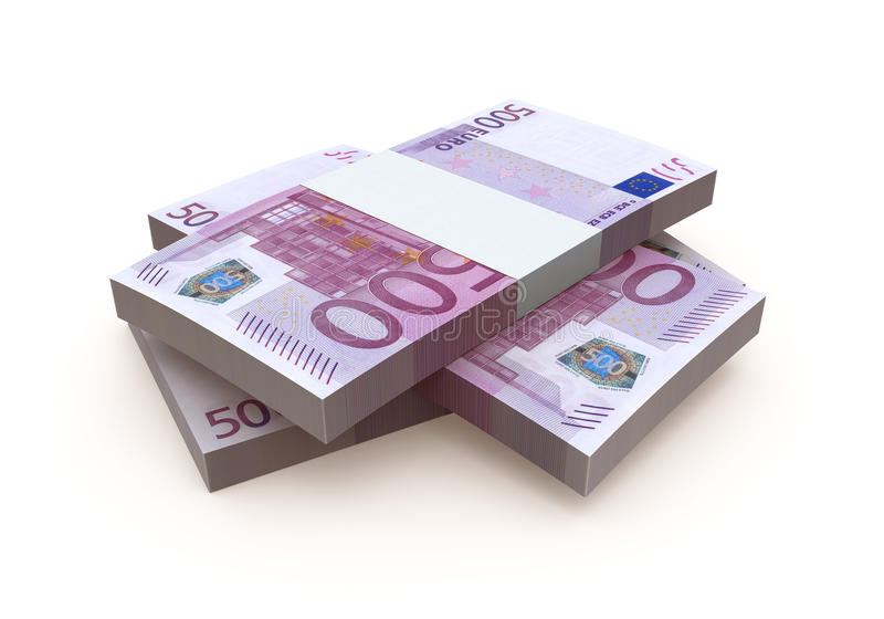Billet de banque de l'euro 500 illustration stock