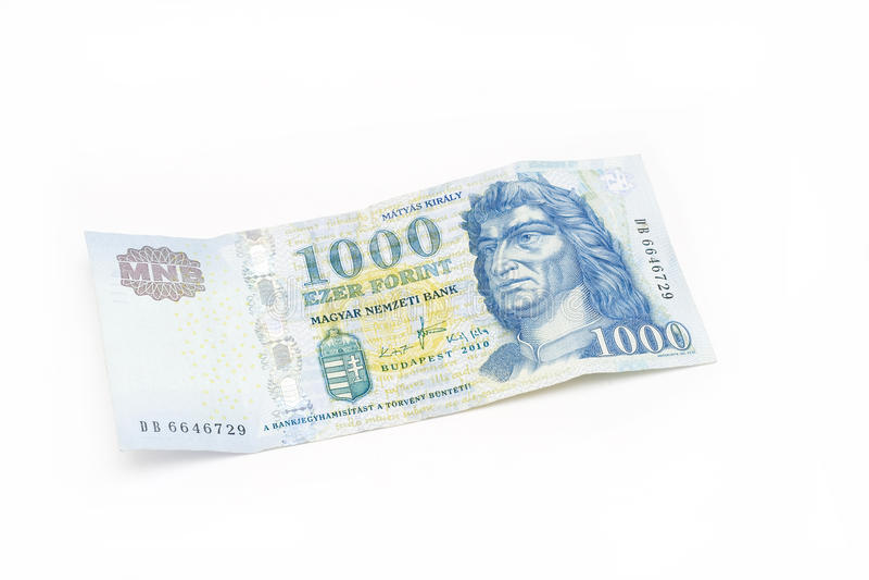Billet de banque hongrois de forint - 1000 HUF photographie stock