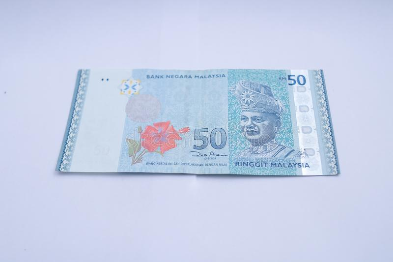 Billet de banque de la Malaisie de 50 ringgits images stock