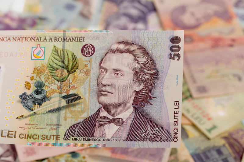 Billet de banque roumain de 500 photo libre de droits