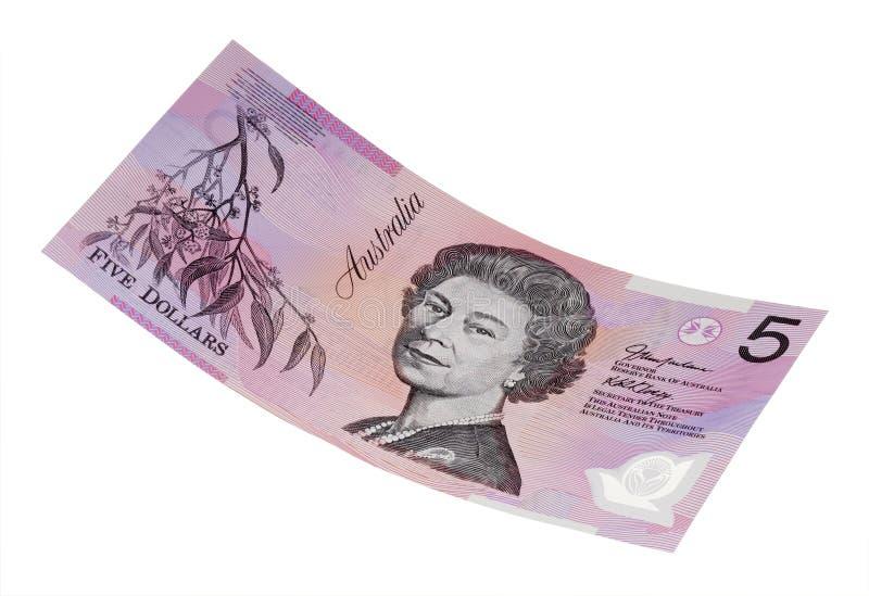 Billet de cinq dollars Australien photographie stock libre de droits