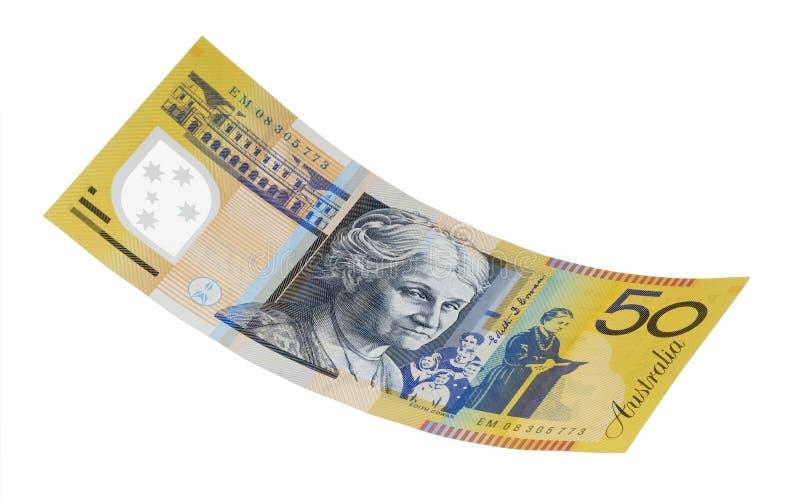 Billet de cinquante dollars Australien image libre de droits