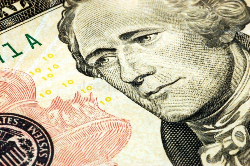 Billet de dix dollars photographie stock libre de droits