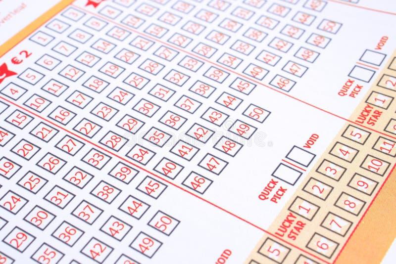 Billet de loterie images libres de droits