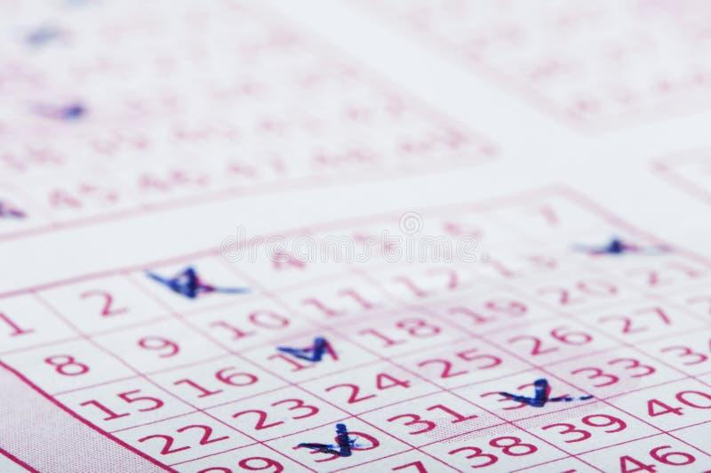 Billet de loterie marqué photos stock