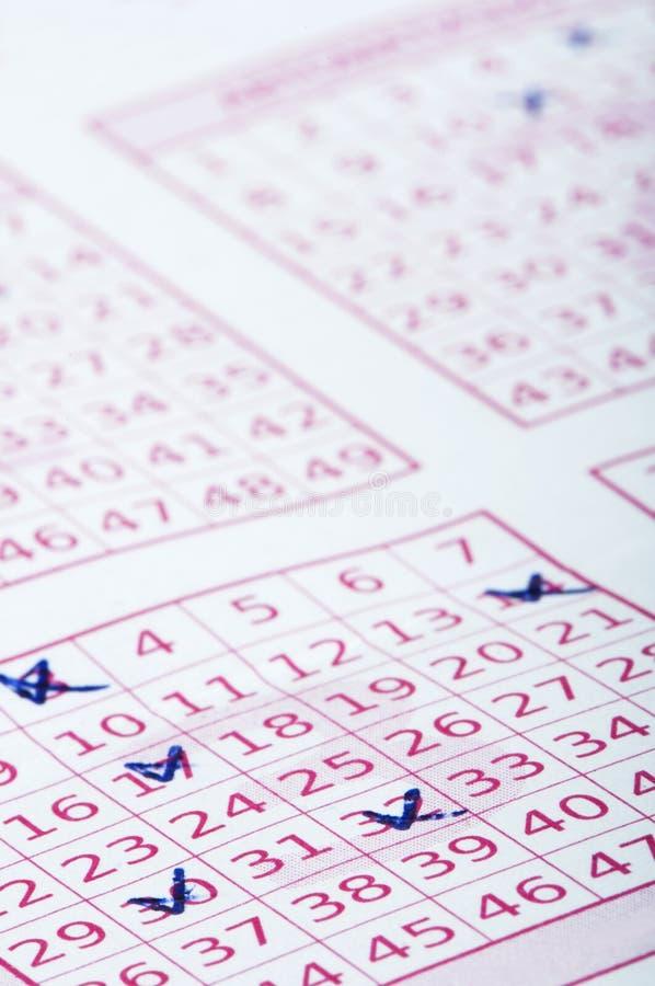 Billet de loterie marqué image libre de droits