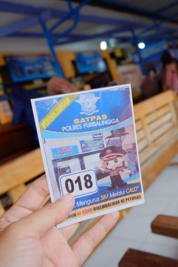billet de permis de conduire de renouvellement photographie stock libre de droits
