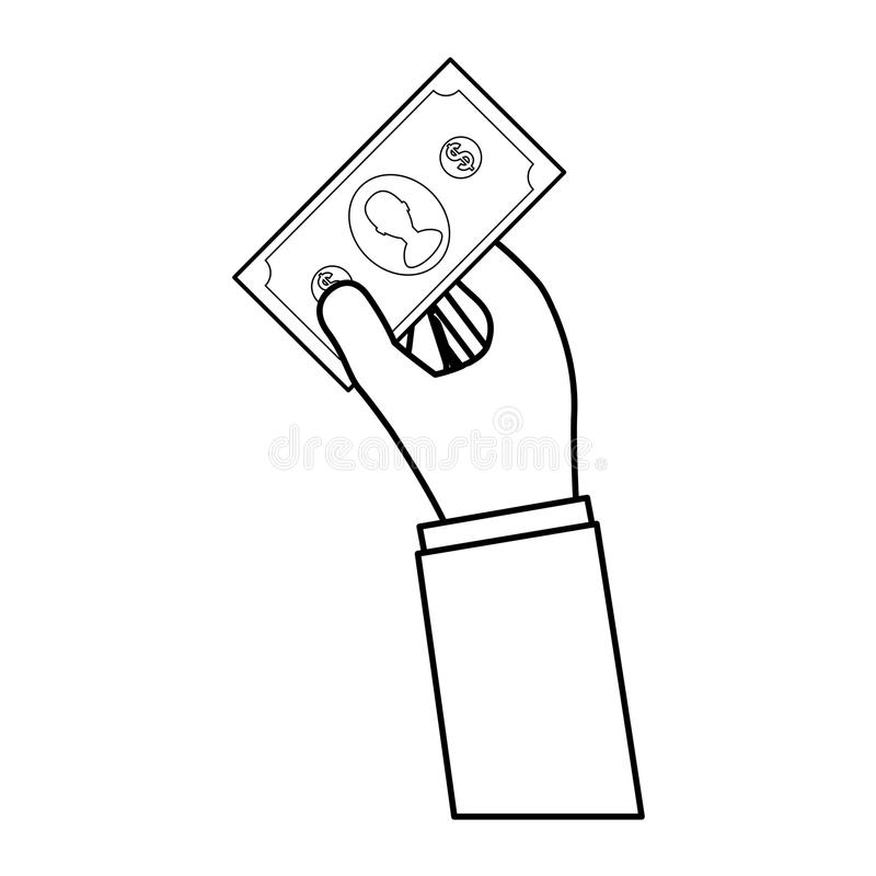 Billet money cash. Icon illustration graphic design stock illustration