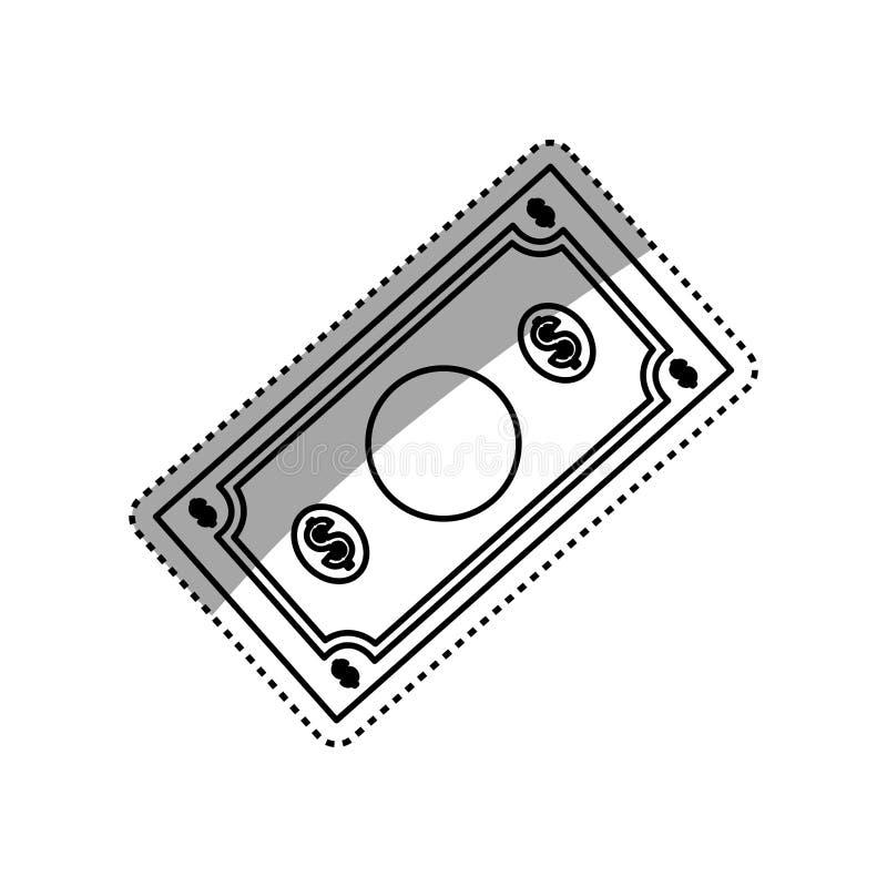 Billet of money vector illustration