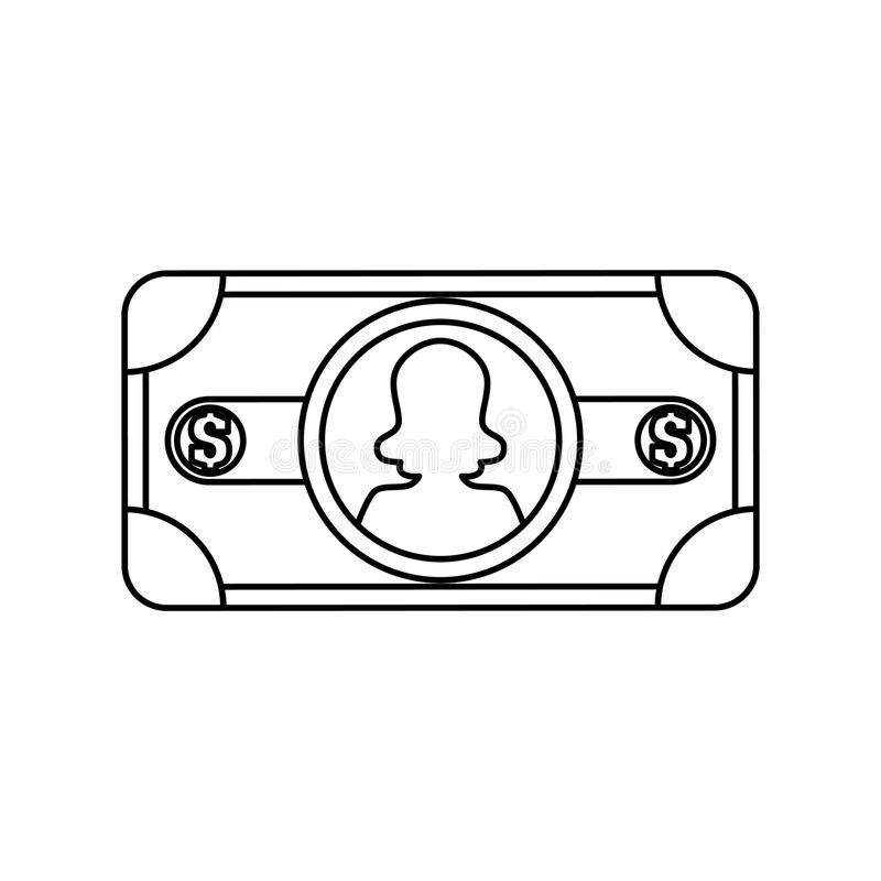 Billet of money royalty free illustration