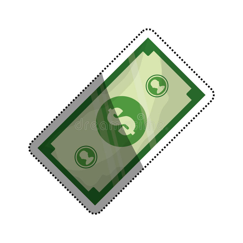 Billet money isolated. Icon illustration graphic design stock illustration