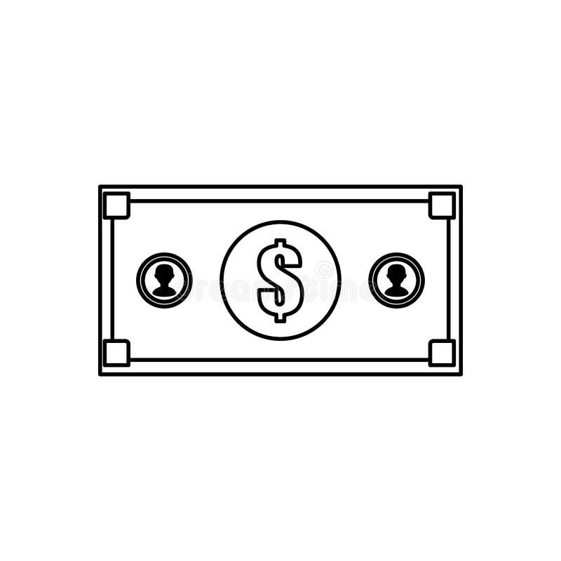 Billet money isolated. Icon illustration graphic design royalty free illustration