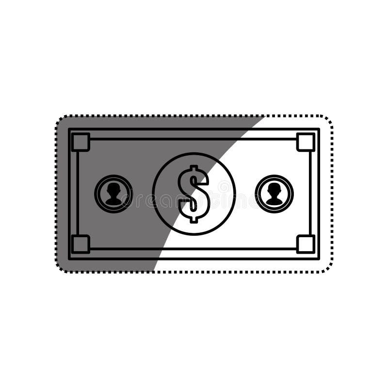 Billet money isolated. Icon illustration graphic design vector illustration