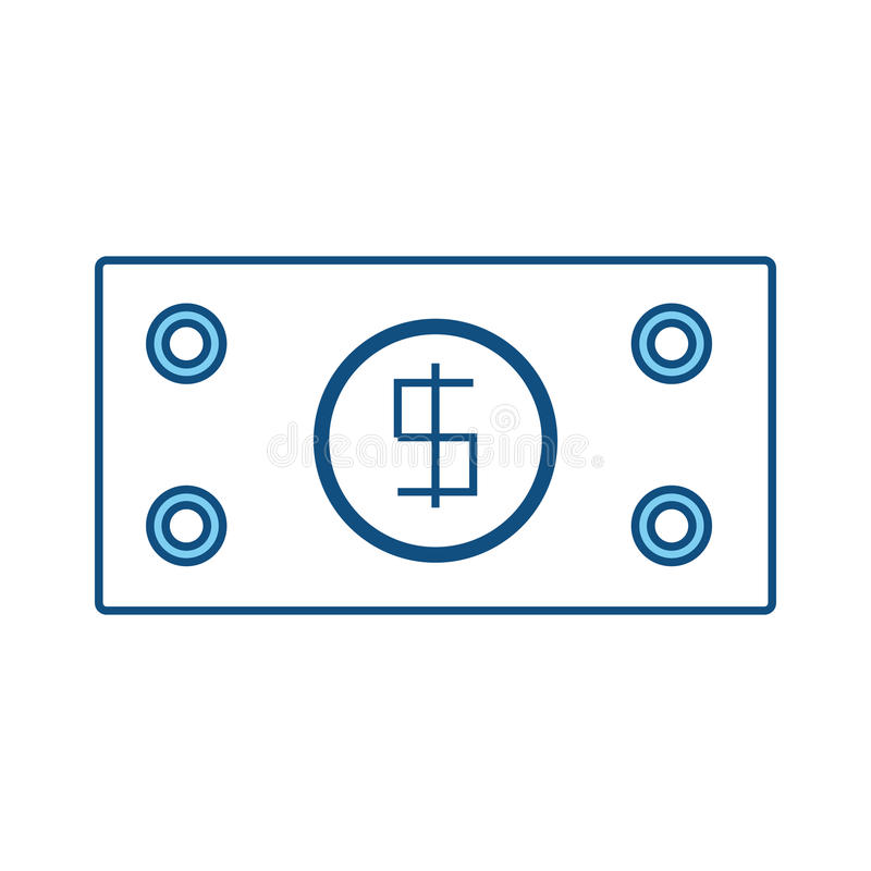 Billet money symbol vector illustration