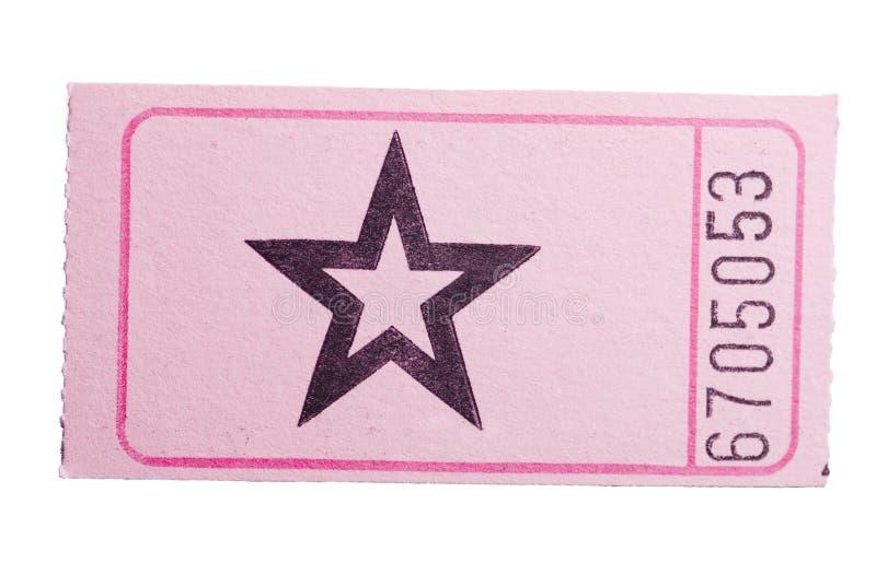 Billet rose d'étoile image stock