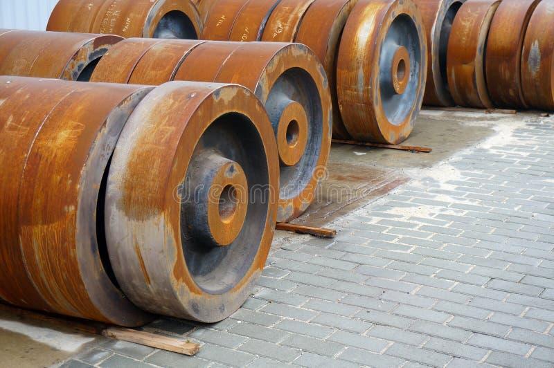 Billet vom Eisen für die Herstellung von Rädern lizenzfreie stockfotografie