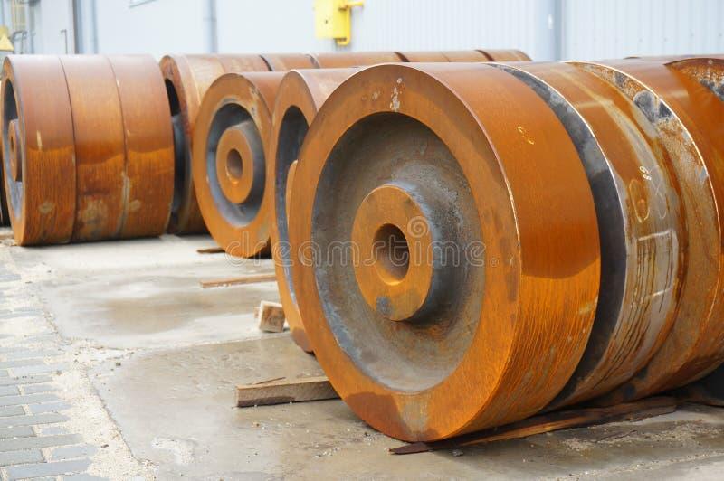 Billet vom Eisen für die Herstellung von Rädern lizenzfreies stockbild