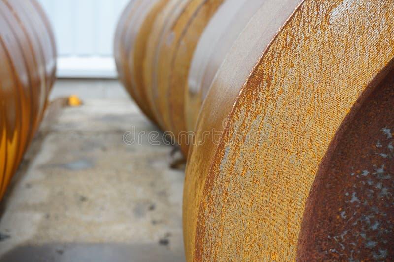 Billet vom Eisen für die Herstellung von Rädern stockfotografie