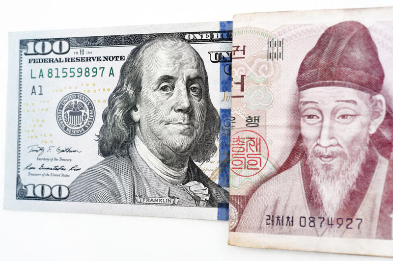 Billete de banco aislado en el fondo blanco fotografía de archivo libre de regalías