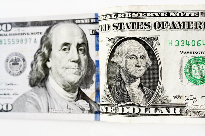 Billete de banco aislado en el fondo blanco fotos de archivo libres de regalías