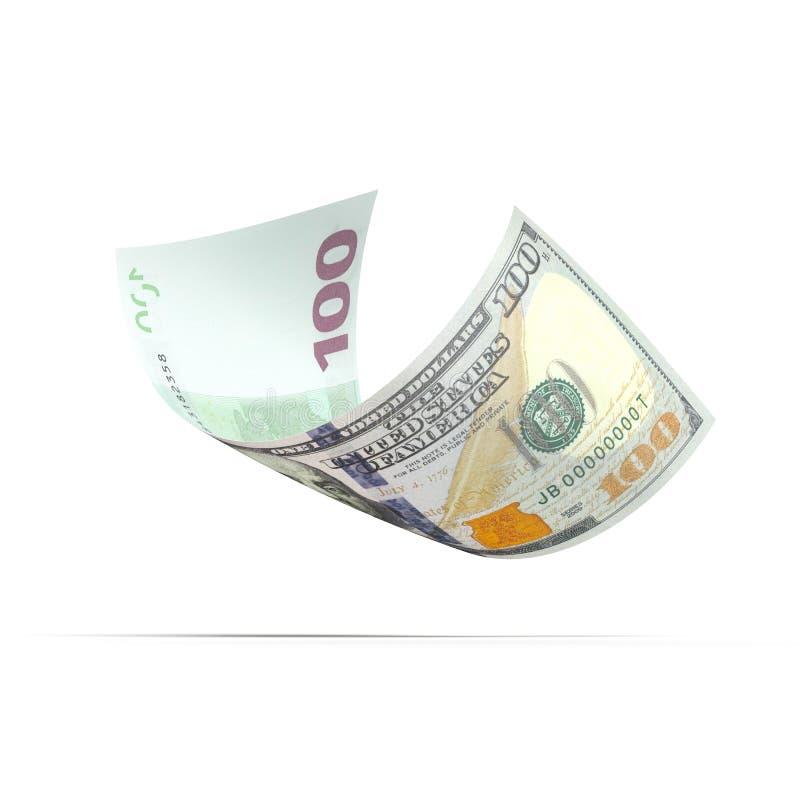 السعر 200 100 Dolar: Dos Lados De Billete De Banco Del Euro 100 Foto De Archivo