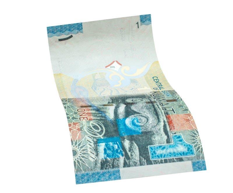 1 billete de banco del dinar kuwaití foto de archivo