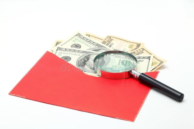 Billete de banco del dinero en circulación del efectivo del dólar del dinero foto de archivo libre de regalías