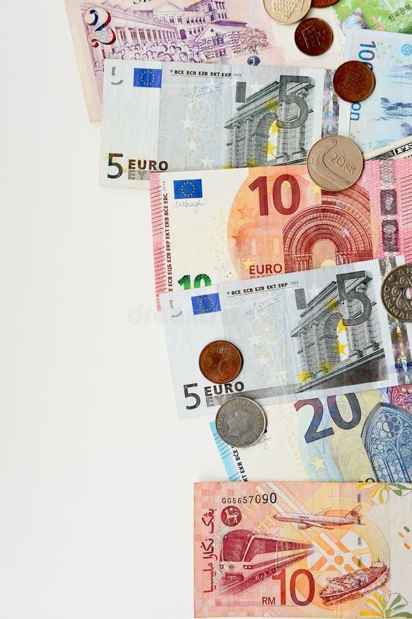 Billete de banco y moneda fotos de archivo libres de regalías