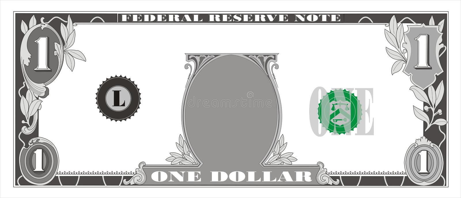 Billete de dólar libre illustration