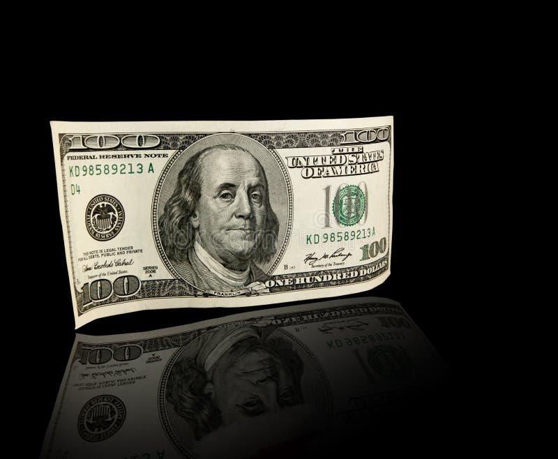 Billete de dólar de los E.E.U.U. ciento foto de archivo