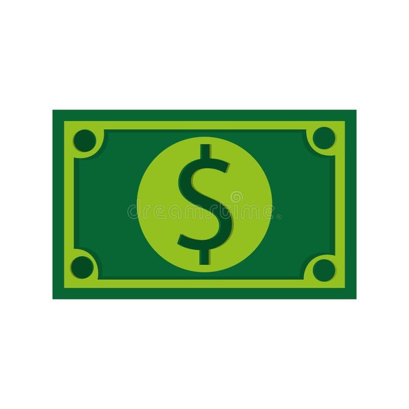 billete de dólar, ejemplo del vector sobre el fondo blanco libre illustration