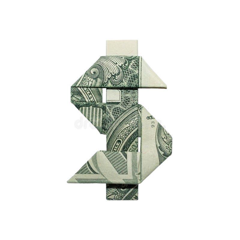 Billete de dólar real de la MUESTRA de DÓLAR de la papiroflexia del dinero un foto de archivo libre de regalías
