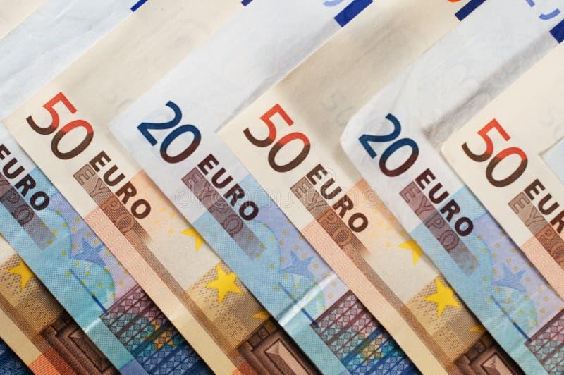 billetes de евро стоковое изображение rf
