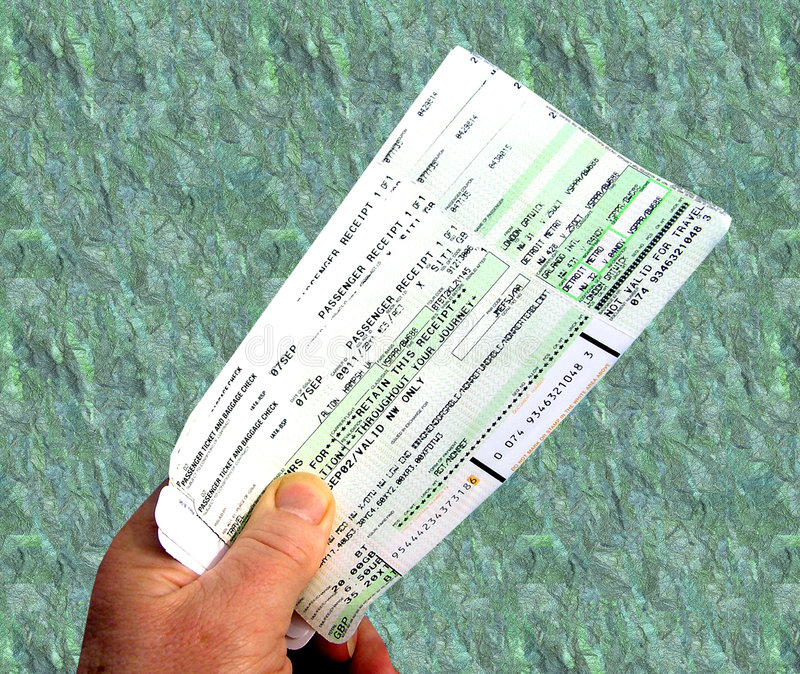 Billetes de avión fotografía de archivo