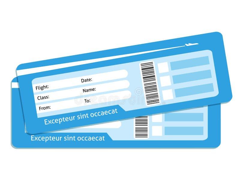 Billetes de avión en blanco stock de ilustración