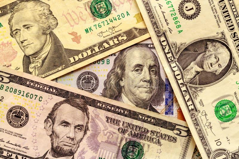 Billetes de banco americanos del dólar imagen de archivo