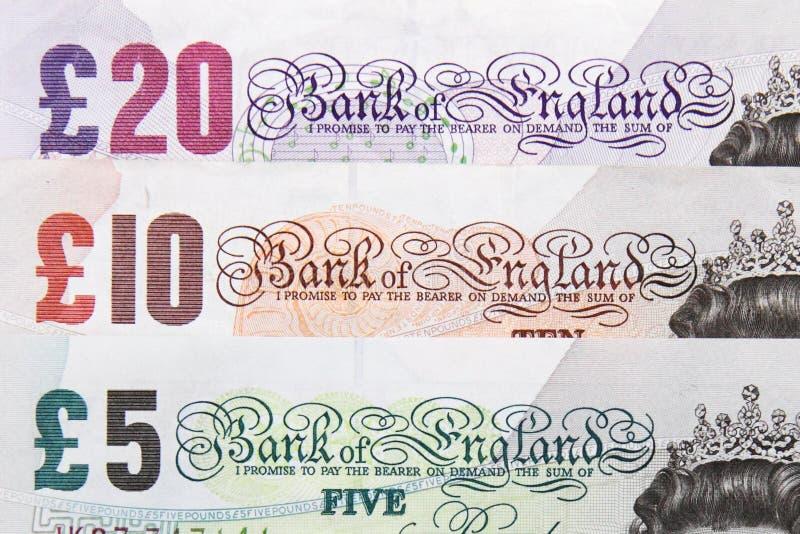 Billetes de banco británicos fotos de archivo