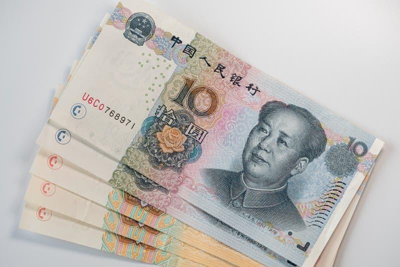 Billetes de banco chinos del yuan - RMB fotos de archivo libres de regalías