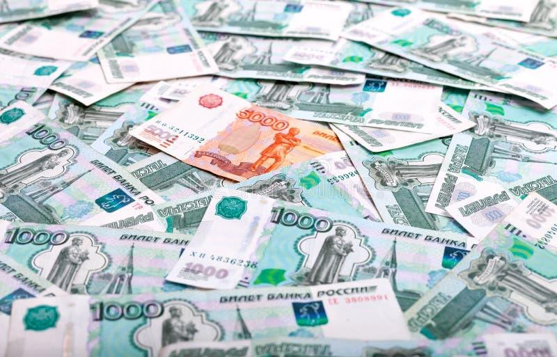 Billetes de banco de la rublo rusa imágenes de archivo libres de regalías