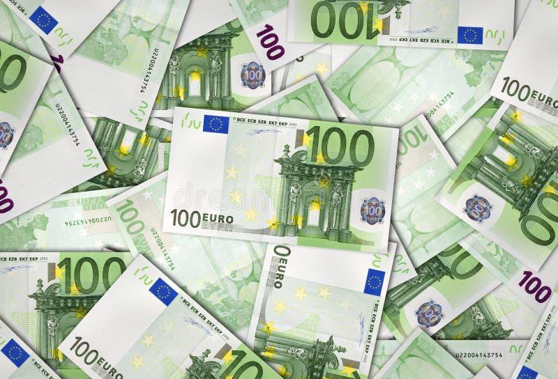 Billetes de banco de la unión europea del euro 100