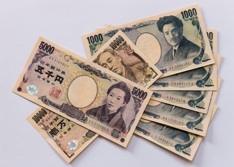 Billetes de banco de los yenes japoneses imagen de archivo