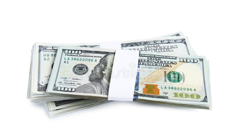 Billetes de banco del d?lar Divisa nacional americana imagenes de archivo
