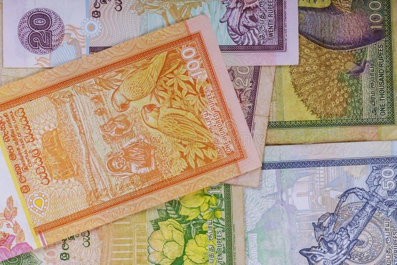 Billetes de banco del en cuenta de dinero de Sri Lanka fotos de archivo libres de regalías