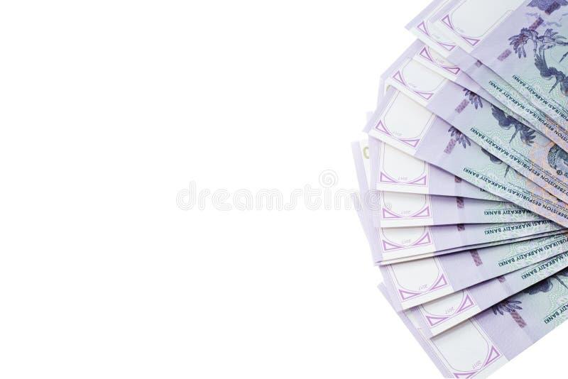 Billetes de banco del Uzbek Cincuenta mil sumas del Uzbek Aislado imagen de archivo libre de regalías