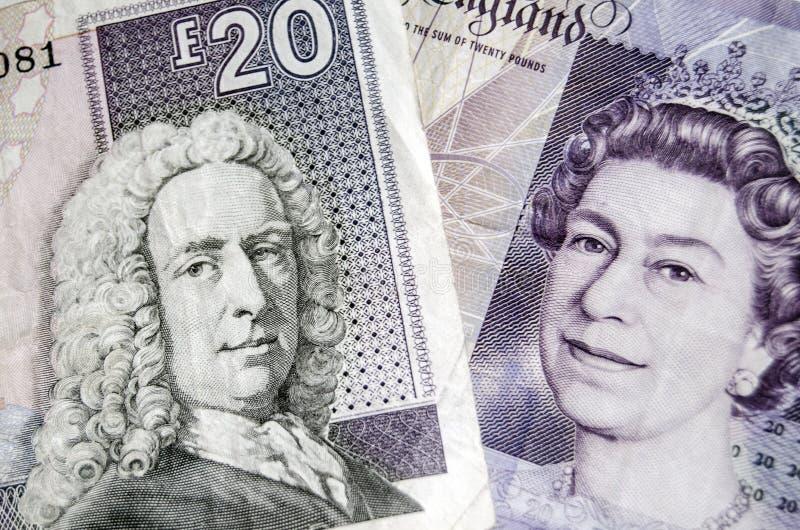 Billetes de banco escoceses e ingleses imágenes de archivo libres de regalías