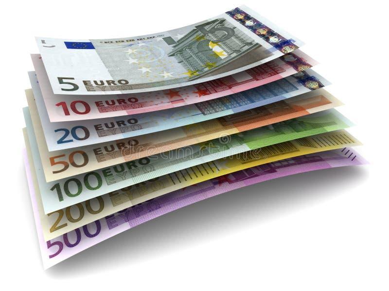 Billetes de banco euro del dinero foto de archivo libre de regalías