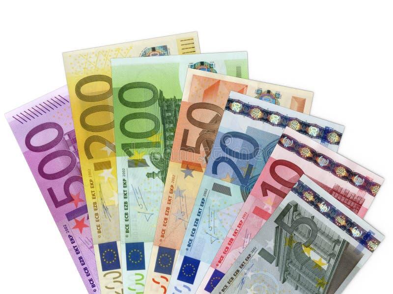 Billetes de banco euro del dinero fotografía de archivo libre de regalías