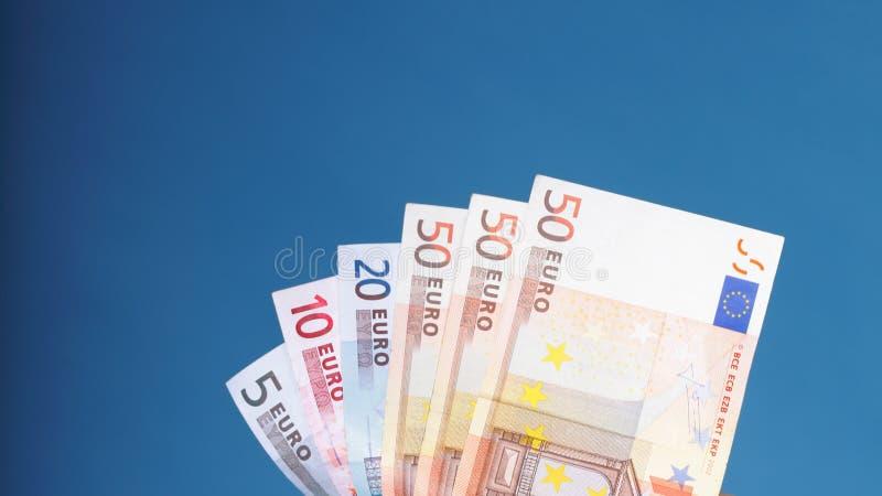 Billetes de banco europeos del euro de la moneda imagen de archivo