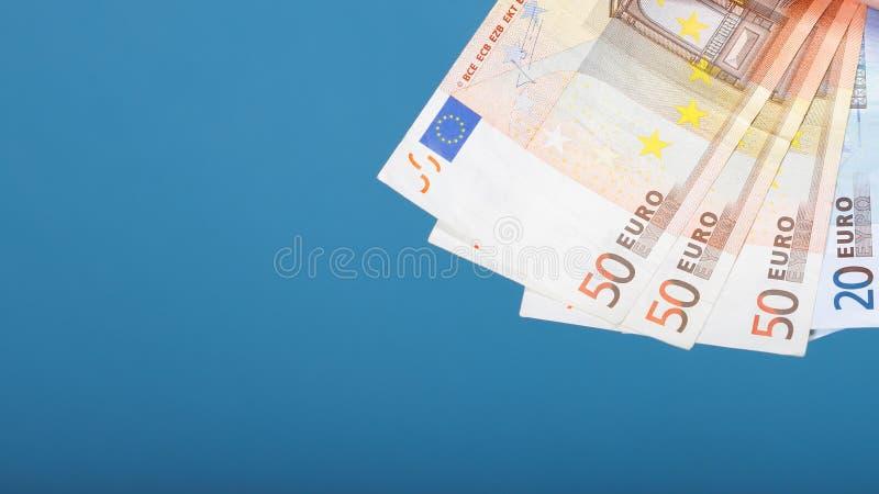 Billetes de banco europeos del euro de la moneda fotografía de archivo libre de regalías